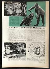 1950 BMW R51/3 Motorcycle original vintage Pictorial