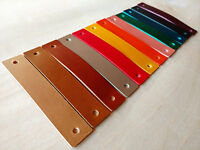 LEATHER PULL,HANDLE FOR DRAWERS,CABINETS,DOORS - 3mm VEG TANNED LEATHER 8 COLORS