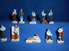 CHARLIE CHAPLIN Fire Man The FIREMAN Set10 Mini Figurines FRENCH Porcelain FEVES