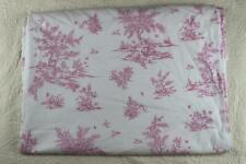 Pottery Barn Kids Pink Toile Lined Drapes Curtain Panel 44x96