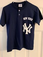 New York Yankees MLB Youth Kids Crew 2 Button T Shirt Jersey Size M