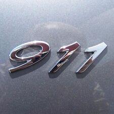 911 Chrome Rear Deck Lid Boot Emblem Badge for Porsche Carrera Turbo 559 231 02
