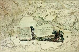 TEATRO DELLA GUERRA PRESENTE TRA LA RUSSIA E LA PORTA OTTOMANA. VENICE.1788
