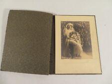 "Vintage Antique Victorian Women's Wedding Photograph Signed ""Brion"""
