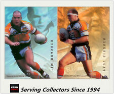 1996 Dynamic Rugby League Signature Gold ACETATE CARD TEAM SET--Tigers (2)