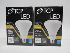Free Ship, Pair of TCP 65W Equivalent Soft White BR30 Dimmable LED Light Bulbs