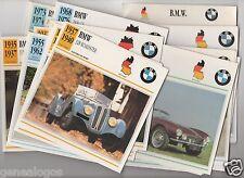 LOT 45 FICHES GLACEES GERMANY  BMW AUTOMOBILE VOITURE CAR 1929 à 1992