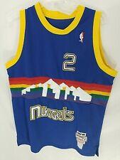Denver Nuggets Mitchell & Ness 1987-88 English #2 Jersey Sz L/XL 48