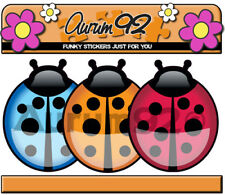 x12 Ladybird Stickers car stickers, laptop, phone etc. Mixed Colours