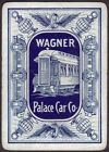 Playing Cards Single Card Old Wide WAGNER PALACE CAR Advertising RAILROAD TRAIN