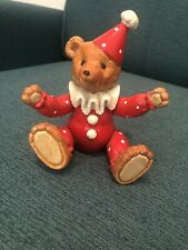 VINTAGE BE A CLOWN SCHMID TEDDY BEAR JAPAN NO 377 WIND UP MUSIC BOX WORKS GREAT!