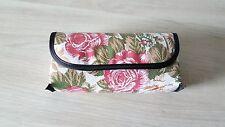 Brillenetui mit Pillenbox Brille Rosenmuster Etui Pille Pillendose Brillenbox-R8