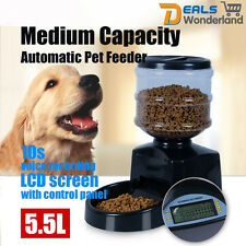 5.5L Big Automatic Program Digital Display Pet Cat Dog Feeder Food Bowl Dispense