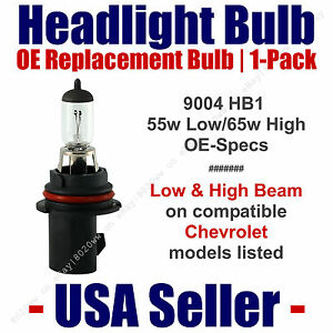 Headlight Bulb High/Low OE Replacement Fits Listed Chevy/Chevrolet Models - 9004