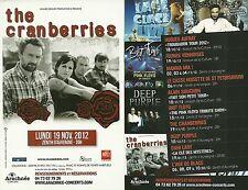 FLYER PLV - THE CRANBERRIES : CONCERT LIVE 2012 ZENITH CLERMONT FERRAND - FRANCE