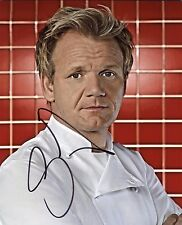 """GORDON RAMSAY Authentic Hand-Signed """"Hell's Kitchen"""" 8x10 Photo (EXACT PROOF)(B)"""