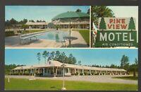Unused Postcard Pine View Motel Sylvania Georgia GA 3 views Great Sign
