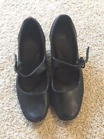 Natural Soul Women's Girly Mary Janes Wedge Comfort Shoes Black Size 8 Wide