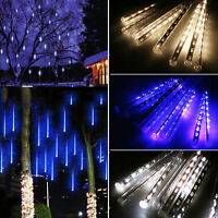80/144/240 LED Meteor Shower String Lights Christmas Tubes Party Outdoor Indoor