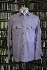 Ralph Lauren Purple Label Purple Suede (Goat) Alban Shirt Jacket size Medium
