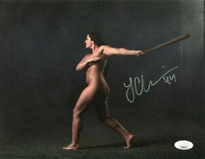 Lauren Chamberlain Oklahoma Sooners Softball WS Champ Signed Autograph Photo JSA