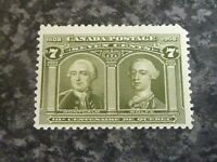 CANADA POSTAGE STAMP SG192 7 CENTS OLIVE GREEN UN MOUNTED MINT