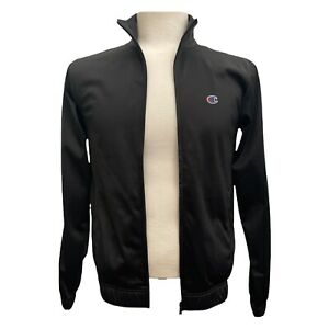 Champion Tracksuit Top Men's Size Small Black Chest Sleeve Logo Front Zip BNWT
