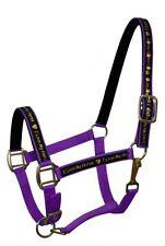 """PURPLE Nylon Horse Halter with """"I Love My Horse"""" Overlay! NEW HORSE TACK!"""