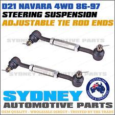 2 x Nissan Navara D21 4WD Front Adjustable Side Tie Rod End Kit 1990-1997
