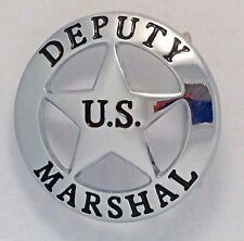 Deputy U.S.Marshall Badge Belt Buckle (Silver)