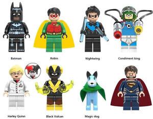 Batman Robin Nightwing King Harley Quinn Magic Dog Black Vulcan Building Blocks