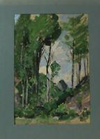Hugo Zieger Landschaft mit Bäumen Öl Papier monogrammiert Nachlass