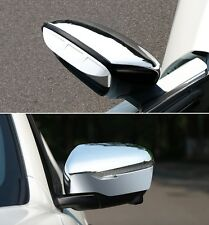 Chrome Rearview Mirror Side Cover Trim Fit For Nissan X-Trail Rogue 2014-2017