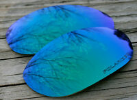 Polarized Jade Green Blue Sunglass Lenses for Oakley Monster Dog - Purple Tint