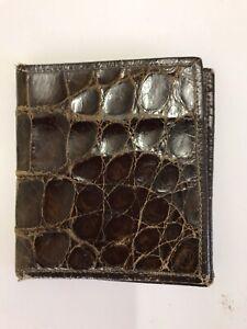 Crocodile skin mens wallets leather