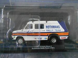 FORD Transit Van MKII Rothmans Escort Service Assistance Rallye Vat Mi IXO 1:43