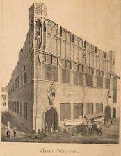 WÜNSCH; WEYER, Haus Gürzenich, Köln, Lithographie, 1827