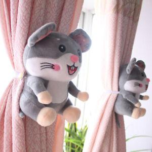 2 Pcs Cartoon Rat Curtain Stand Tieback Buckle Hook Clamp Curtain Accessories