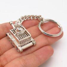 925 Sterling Silver Tank Design Key Chain