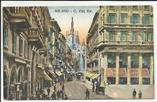 antica cartolina di milano  corso vittorio emanuele
