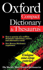 The Oxford Compact Dictionary and Thesaurus, , Used; Good Book