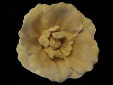 """Millinery Flower 4 3/4"""" Velvet Ivory White for Hat Wedding or Hair KM4 A"""