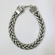 Traditional design sterling 92.5% silver Rope chain Bracelet from Rajasthan Ind