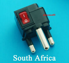 US EU AUS to  South Africa Type M Universal Travel Adaptor AC Power Plug Switch
