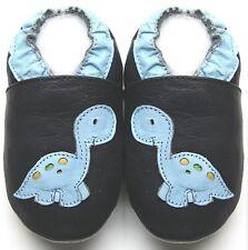 Minishoezoo dinosaur navy  18-24 m soft sole baby leather shoes free shipping