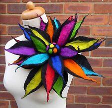 felted wool flower pin,brooch,corsage,handmade,lagenlook, by Felted Art To Wear