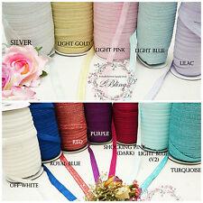 2m Glitter thread FOE  Fold over Elastic DIY Baby Headband craft, sewing, trim