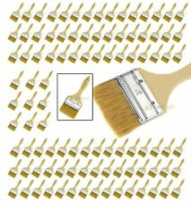 "100 NEW 3"" Disposable Adhesive Paint / Fiber Glass Resin Gelcoat Chip Brush Pack"