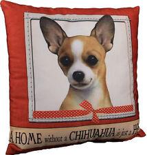Chihuahua Pillow 16×16 Polyester Tan