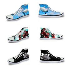 Animals Print Women Canvas Shoes Fashion Lace Up High Top Shoes Casual Sneakers